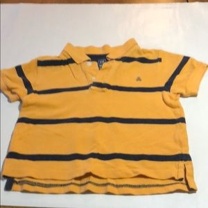 Gap boys striped polo shirt size 2T. Gold/Navy.